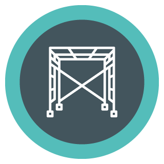 Capital Construction Training Group Scaffolding Icon
